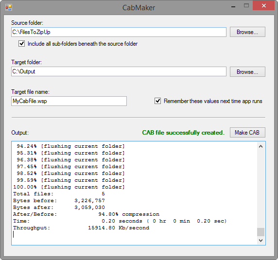 Free Tool to Create CAB File From a Folder | yield return post;